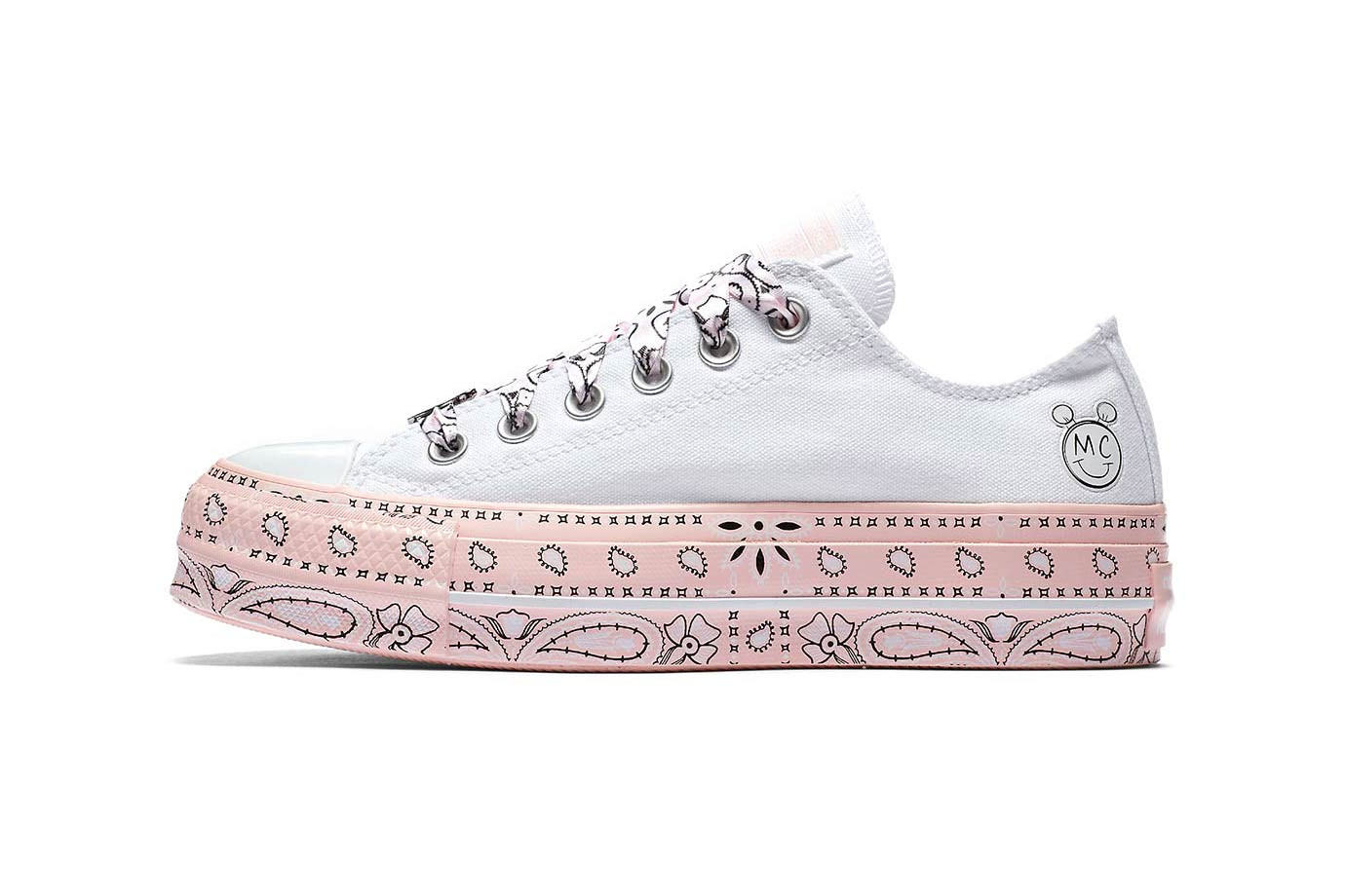 71d0a06a05fc Miley Cyrus Converse Chuck Taylor All Star Platform Lift Low High Pink  White Black Lookbook