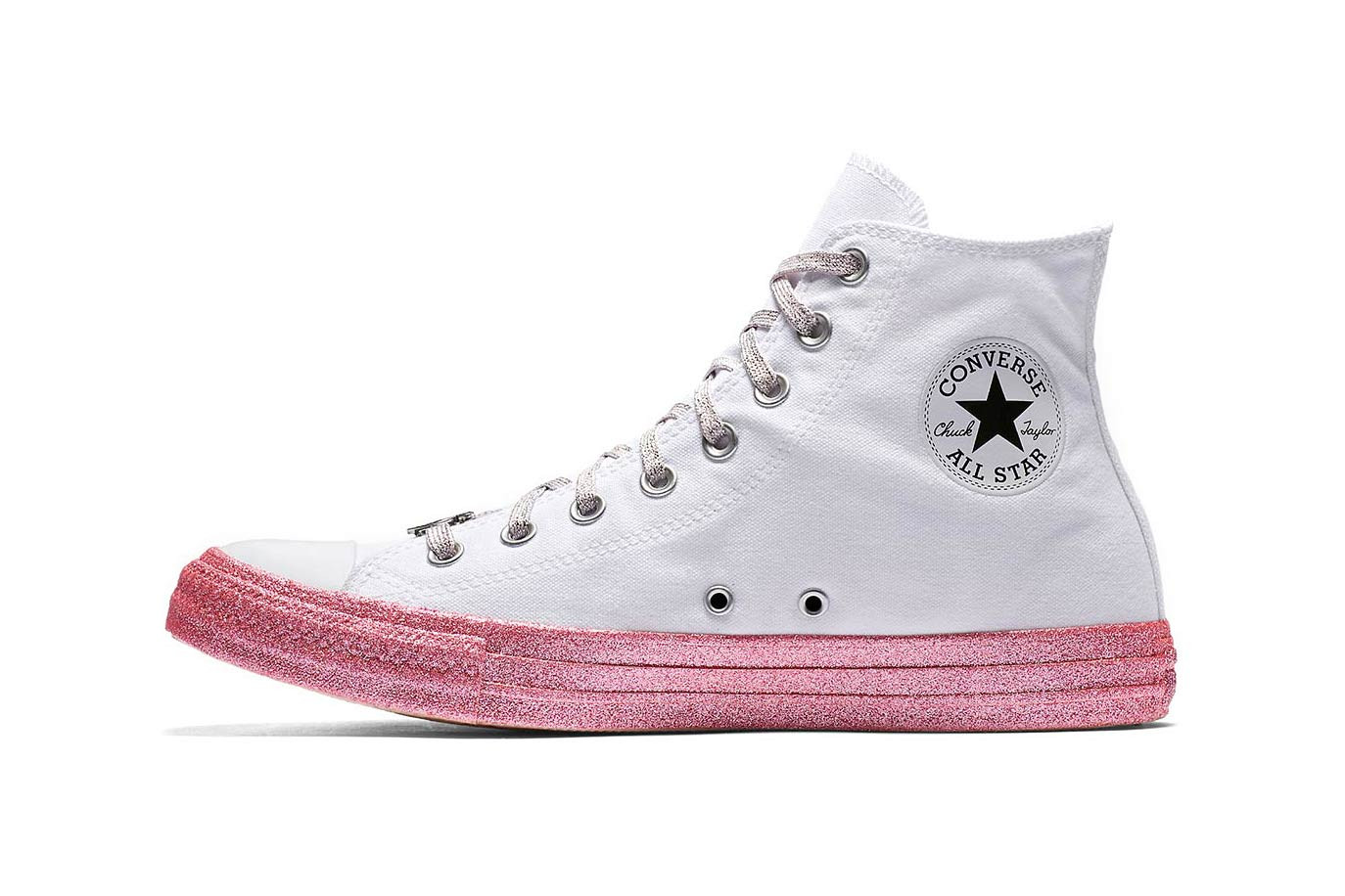 Miley Cyrus Converse Chuck Taylor All Star Platform Lift Low High Pink White Black Lookbook