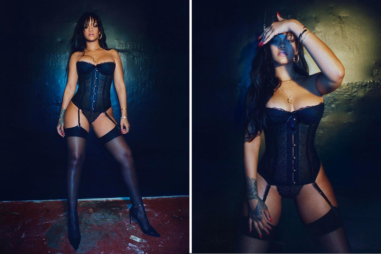 Rihanna Savage X Fenty Lingerie Underwear Bra Pink Denim Jacket May 11 Sizing Price International Shipping