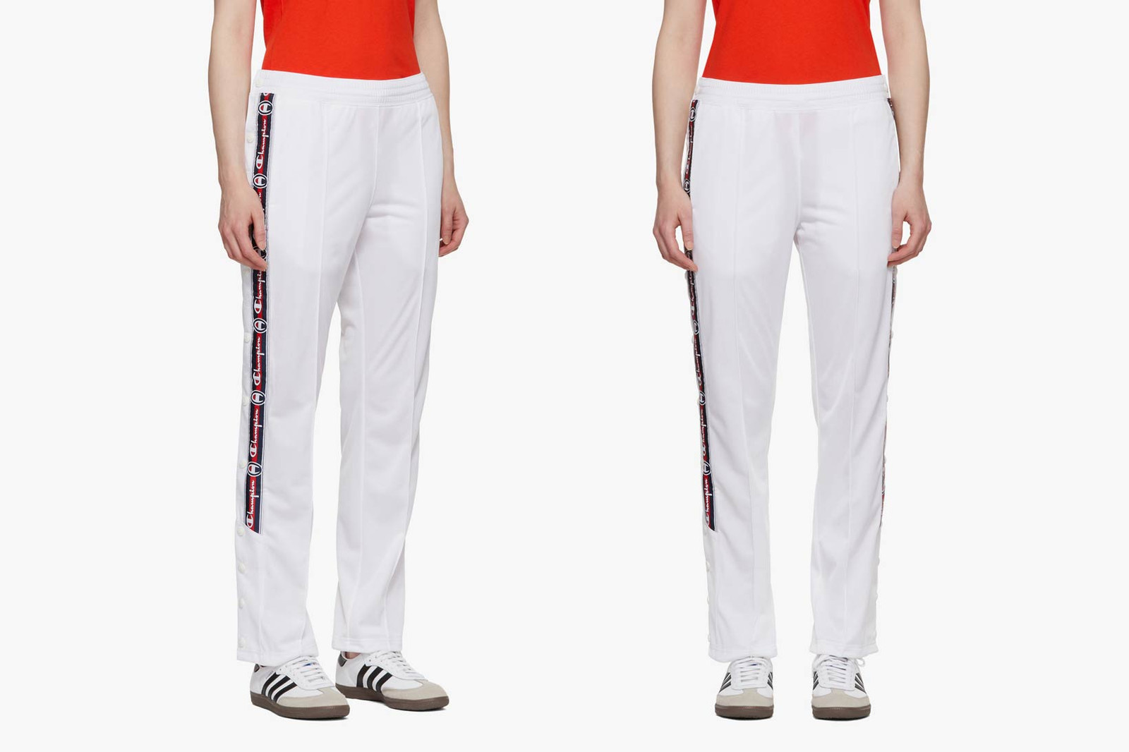 Kappa Logo Track Pants Red