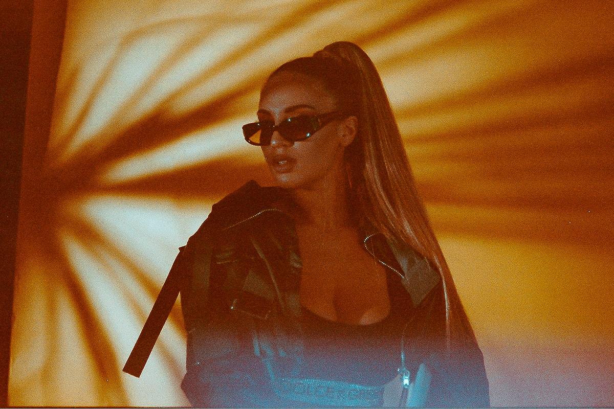 Alina Baraz The Color of You Sunglasses Ponytail Leather Jacket