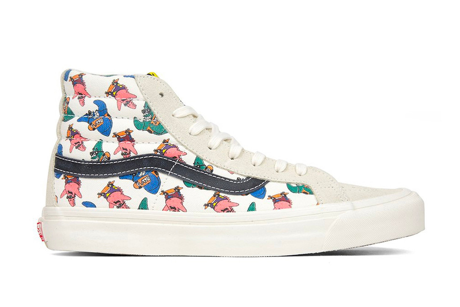 Spongebob Squarepants Vans Sneaker Collaboration Sk8-Hi Slip-On