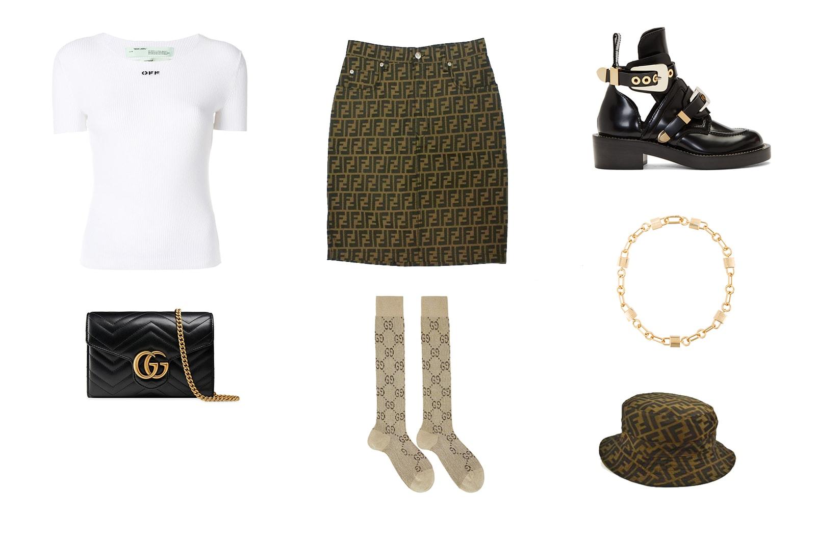 Vintage Fendi, Gucci Monogram Outfit Inspiration Balenciaga Off-White AMBUSH Style Guide Fashion Ideas Summer Look