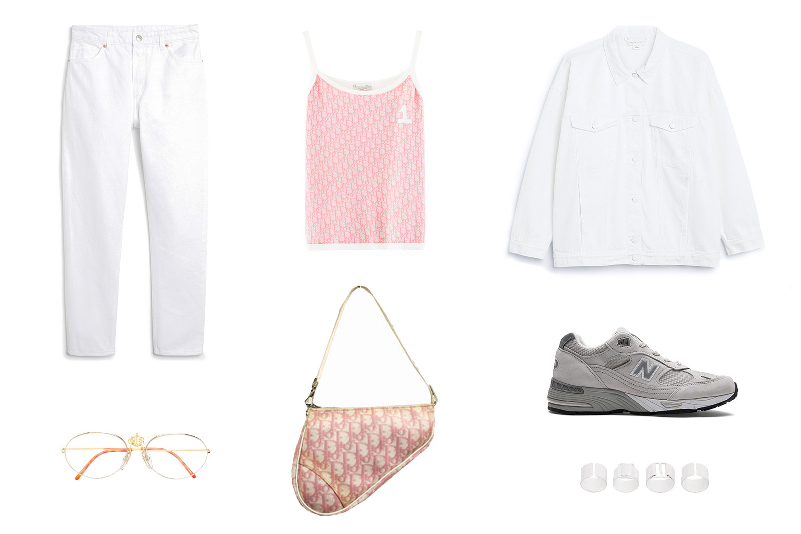 Get the HYPEBAE Look: Summer Outfit Inspiration White Denim Vintage Dior New Balance Sneakers