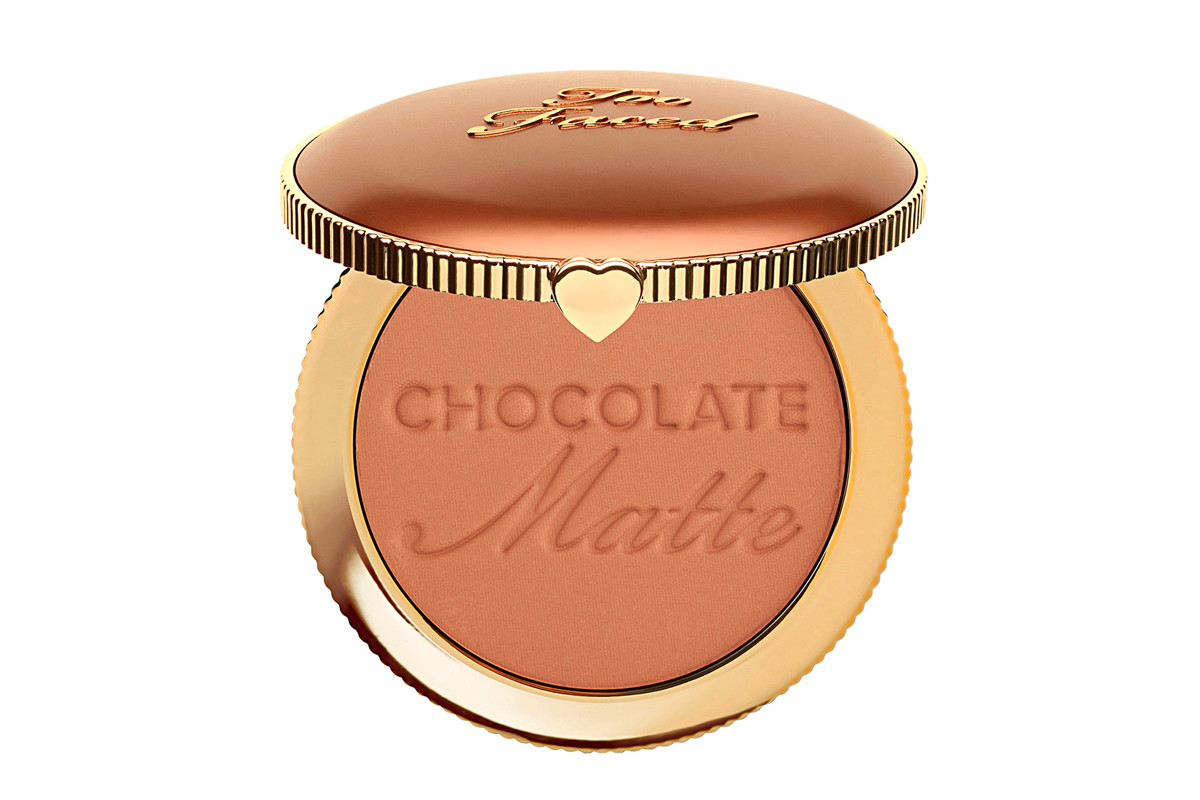 Too Faced Chocolate Soleil Matte Bronzer Makeup Cosmetics Beauty Marble