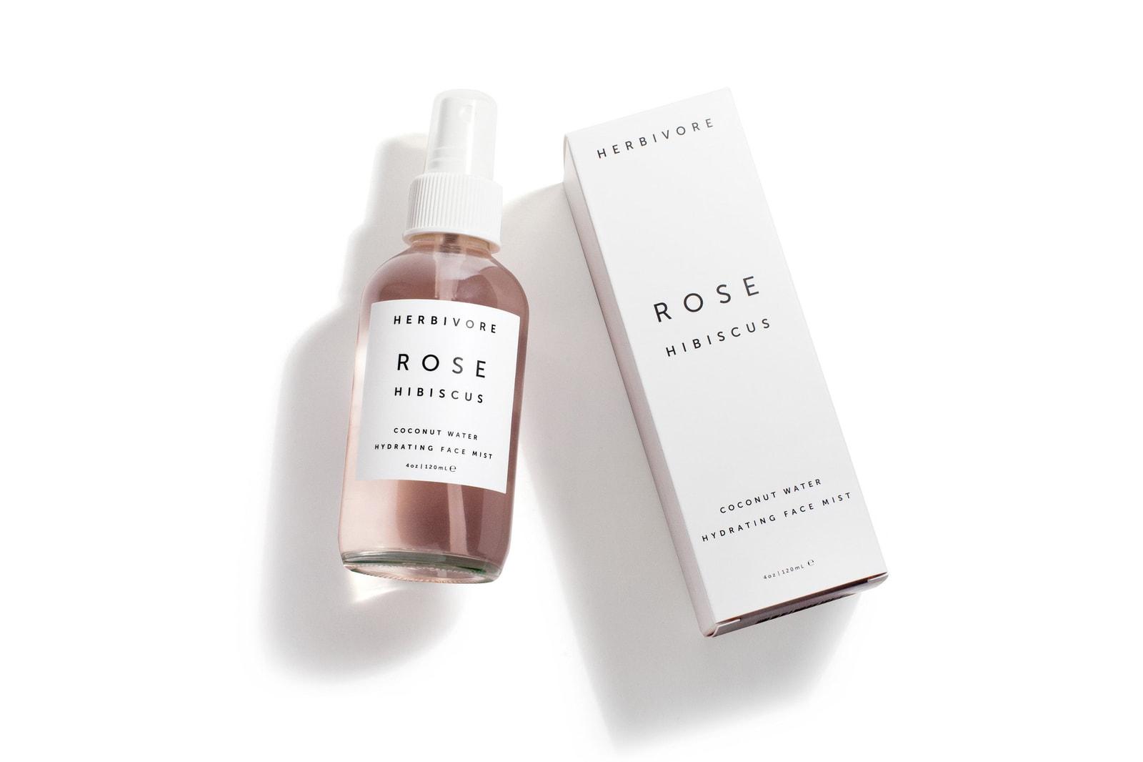 Herbivore Botanicals Rose Hibiscus Face Mist Pink