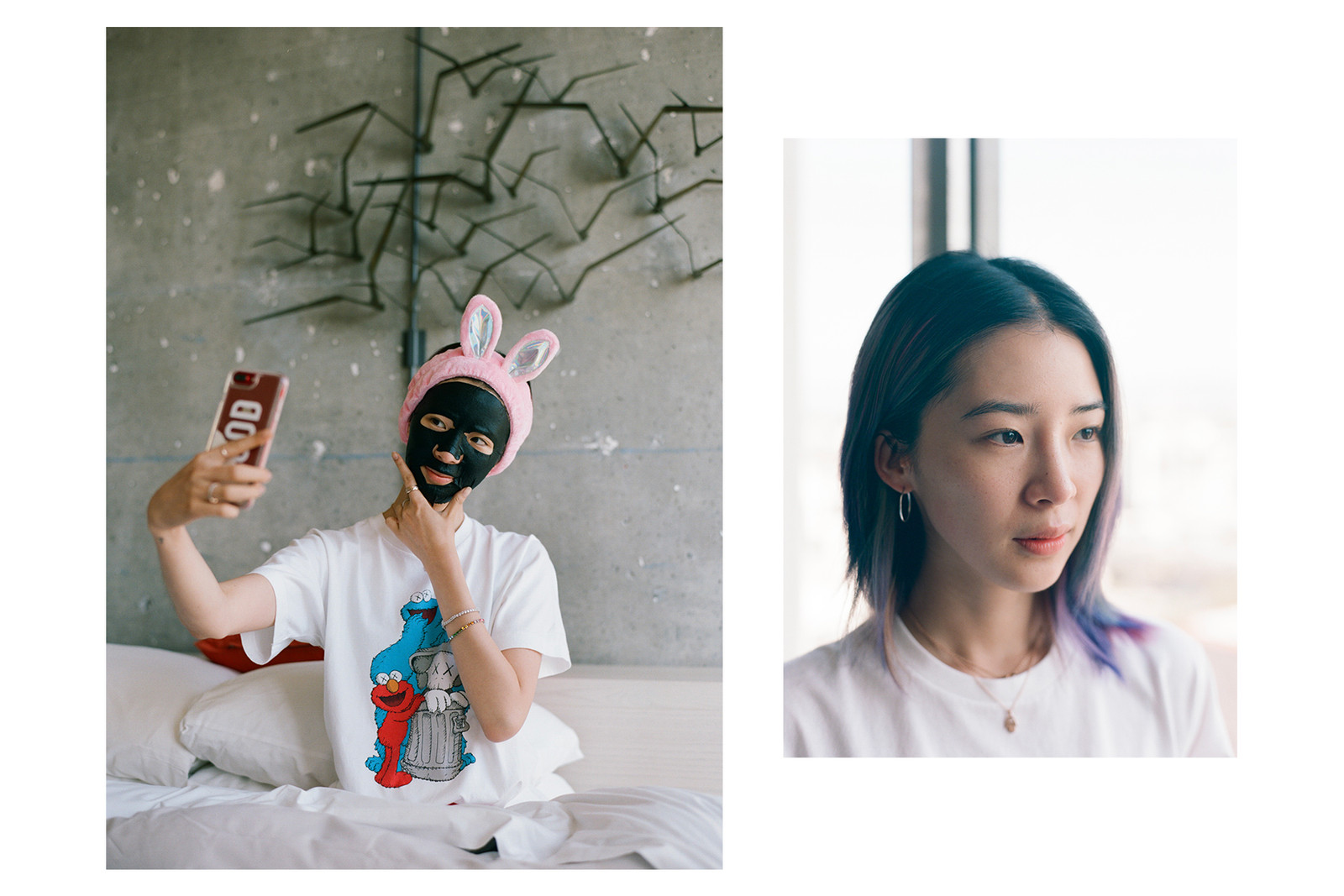 Irene Kim Skincare Jade Rollers Pink Rabbit Headband Korean Beauty K-Beauty Influencer It-girl Model Style Fashion