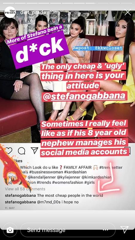 Stefano Gabbana Kardashian Jenner Cheap