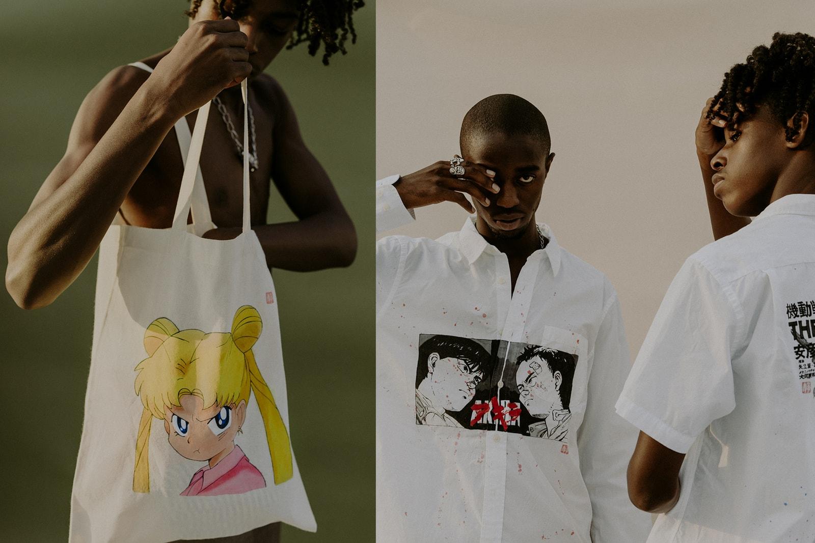 Jynwaye Artist Sailor Moon Hand Painted Tote Bag