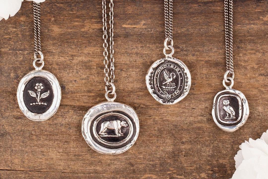 pyrhha talisman jewelry symbolism victorian era silver gold vancouver