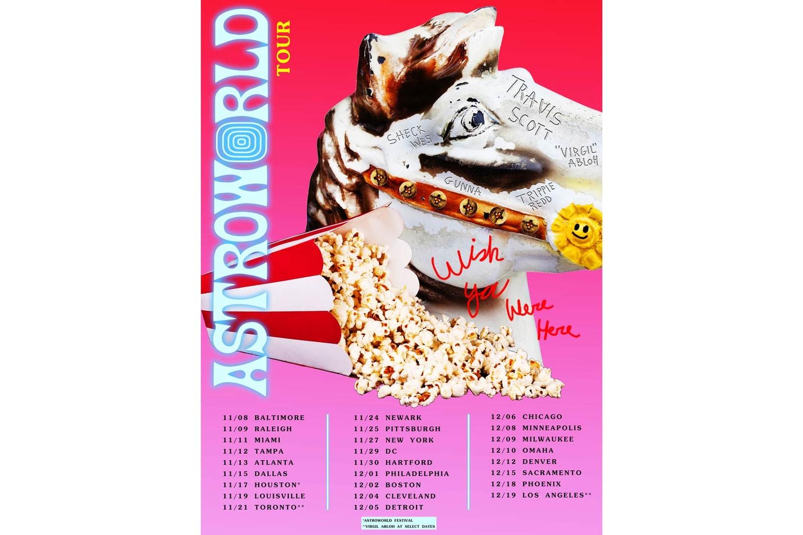 Travis Scott Astroworld Tour Dates