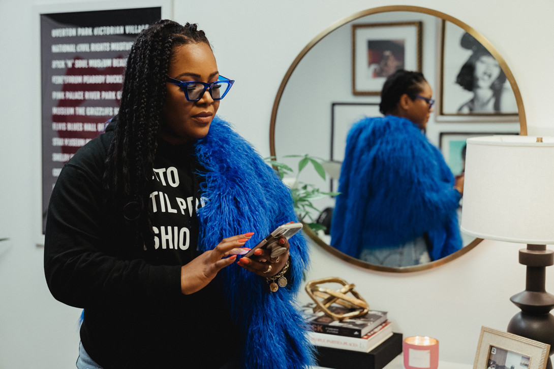 Karleen Roy Celebrity Event Planner Career Interview The Vanity Group Diddy Cardi B Migos Rick Ross Hoodie Black Jacket Blue