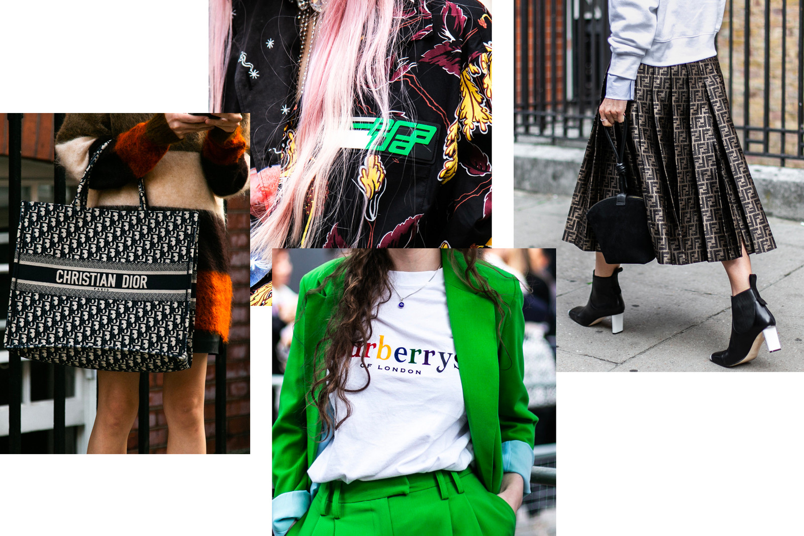 Fendi Fila Logo Fanny Pack Belt Bag London Fashion Week Spring Summer 2019 Street Style