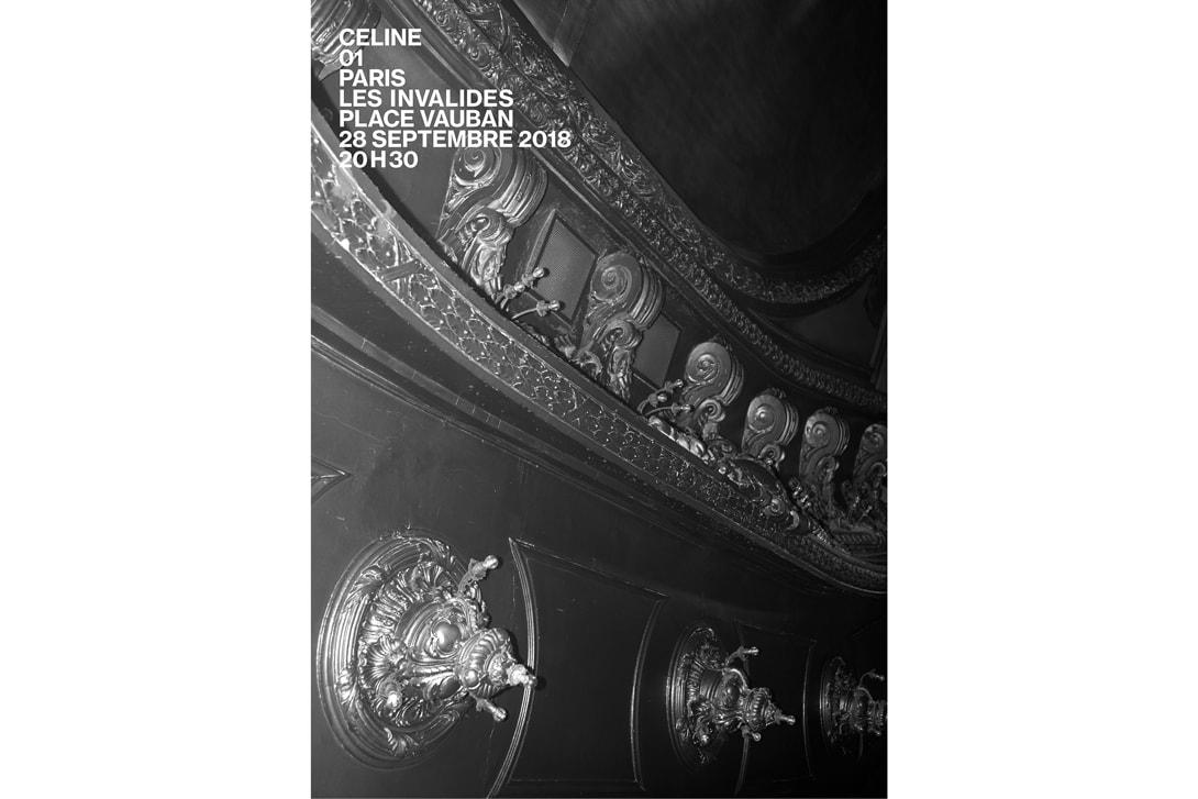 Hedi Slimane Celine Debut Show Venue PFW Hôtel des Invalides Spring Summer 2019