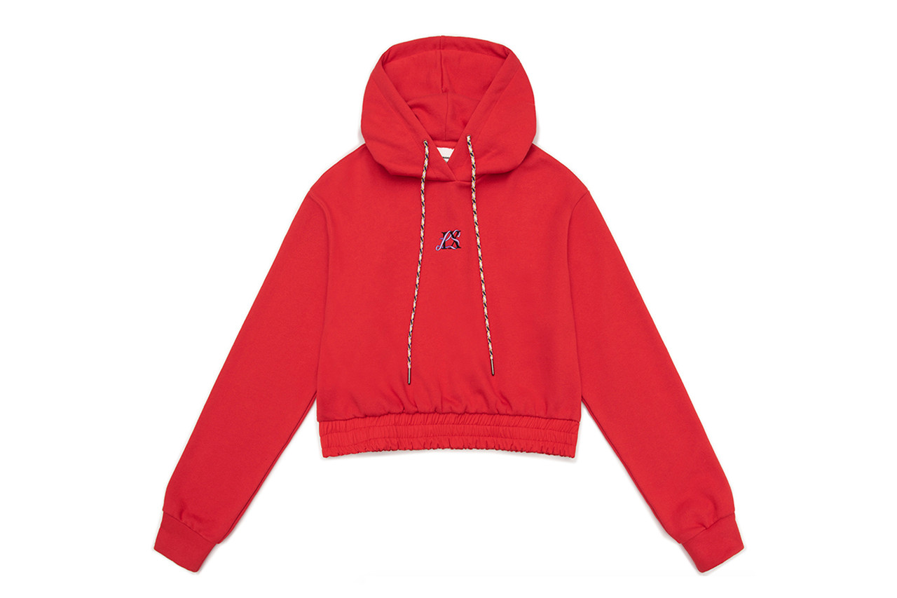 Lisa Blackpink K-pop X-girl Nonagon Collaboration Black Hoodie Red