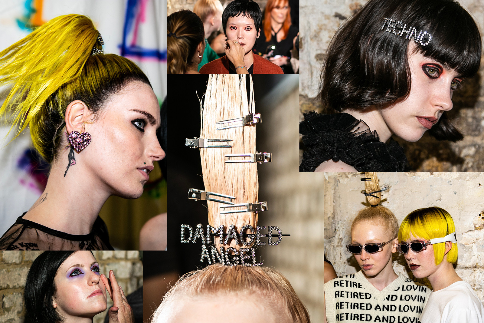 London Fashion Week SS19 Spring Summer 2019 LFW Hair Makeup Trends Beauty Ashely Williams Backstage