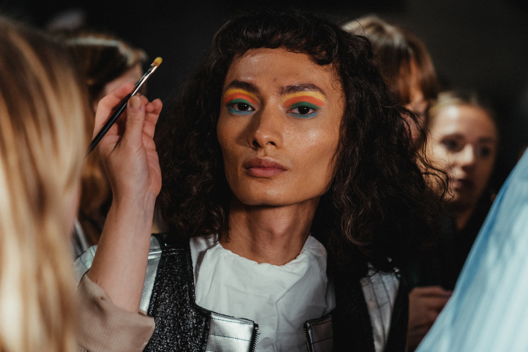 Rodarte Spring/Summer 2019 New York Fashion Week Backstage Roses Blue