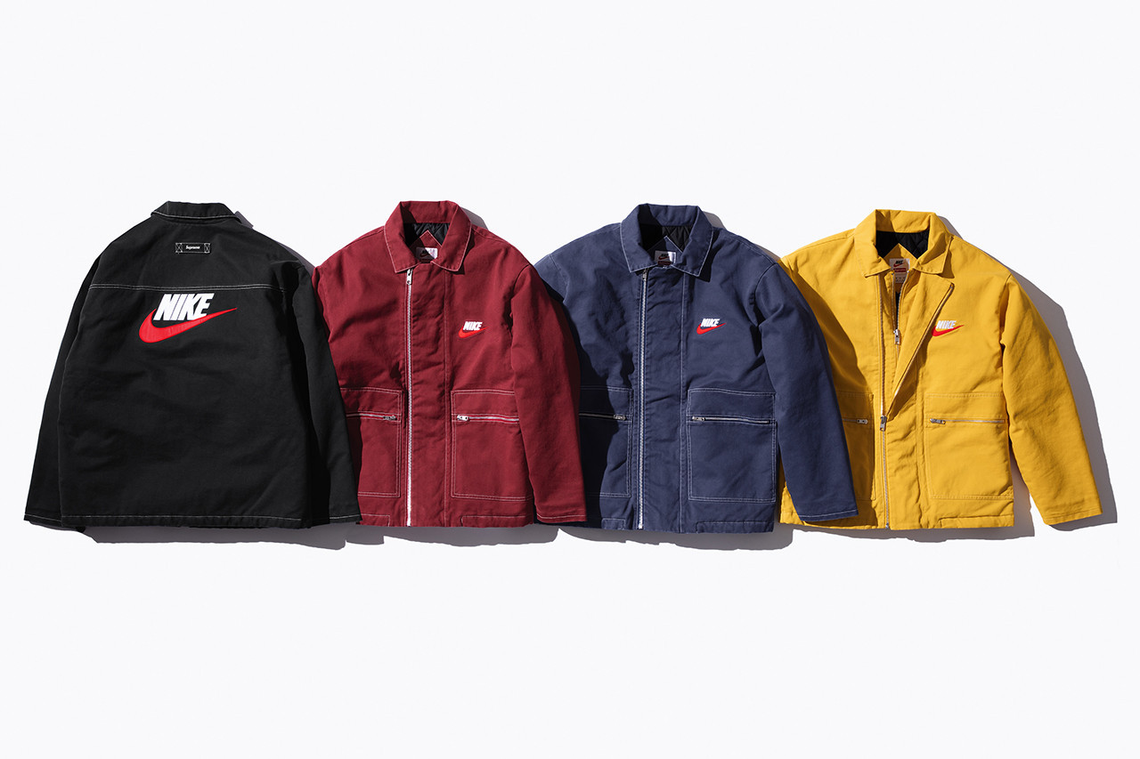 Nike Supreme Collaboration 2018 Fall Winter Jacket Logo Swoosh Yellow