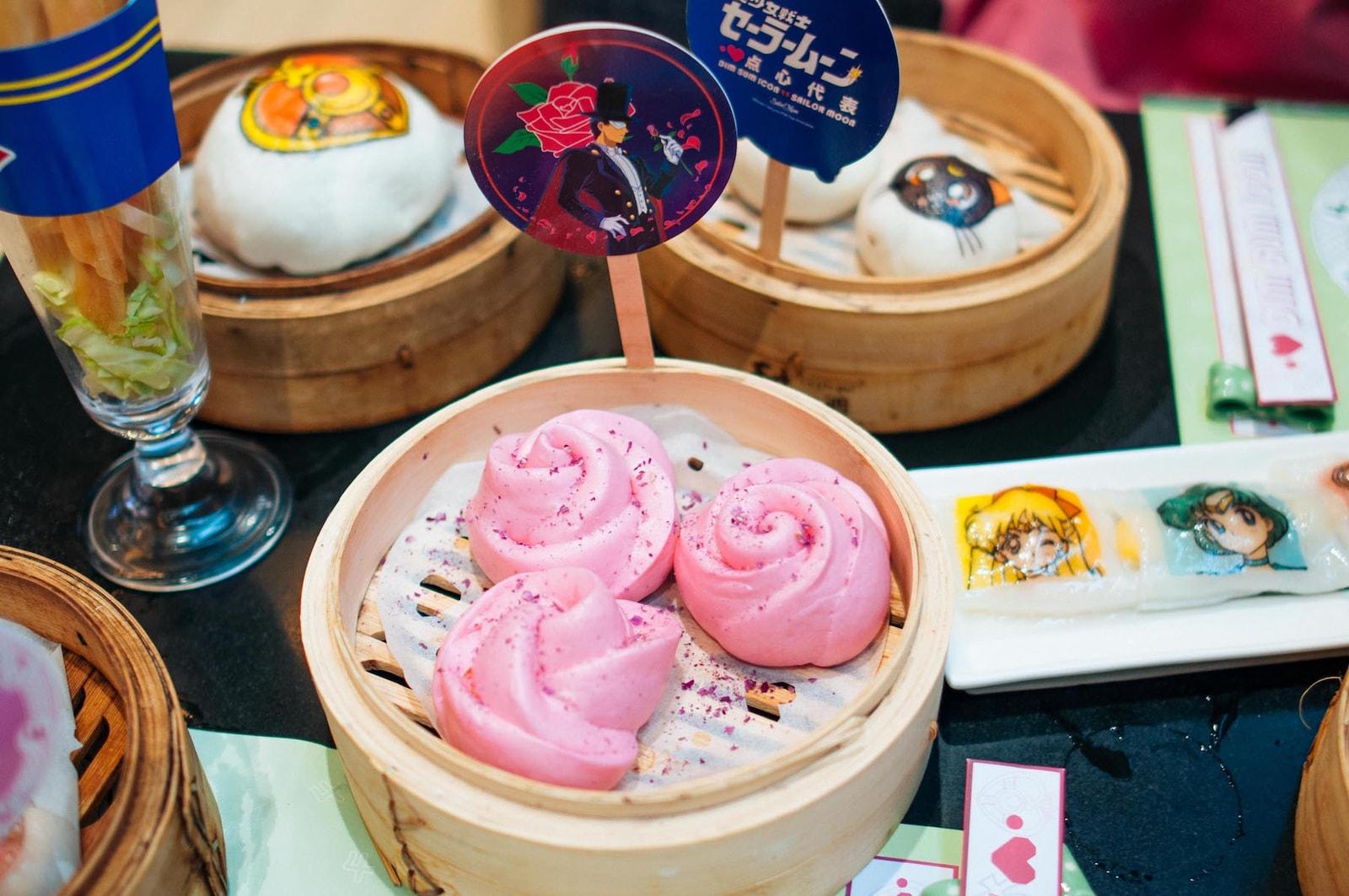 Sailor Moon Dim Sum Brunch Review Cartoon Dim Sum Icon Hong Kong Anime Food