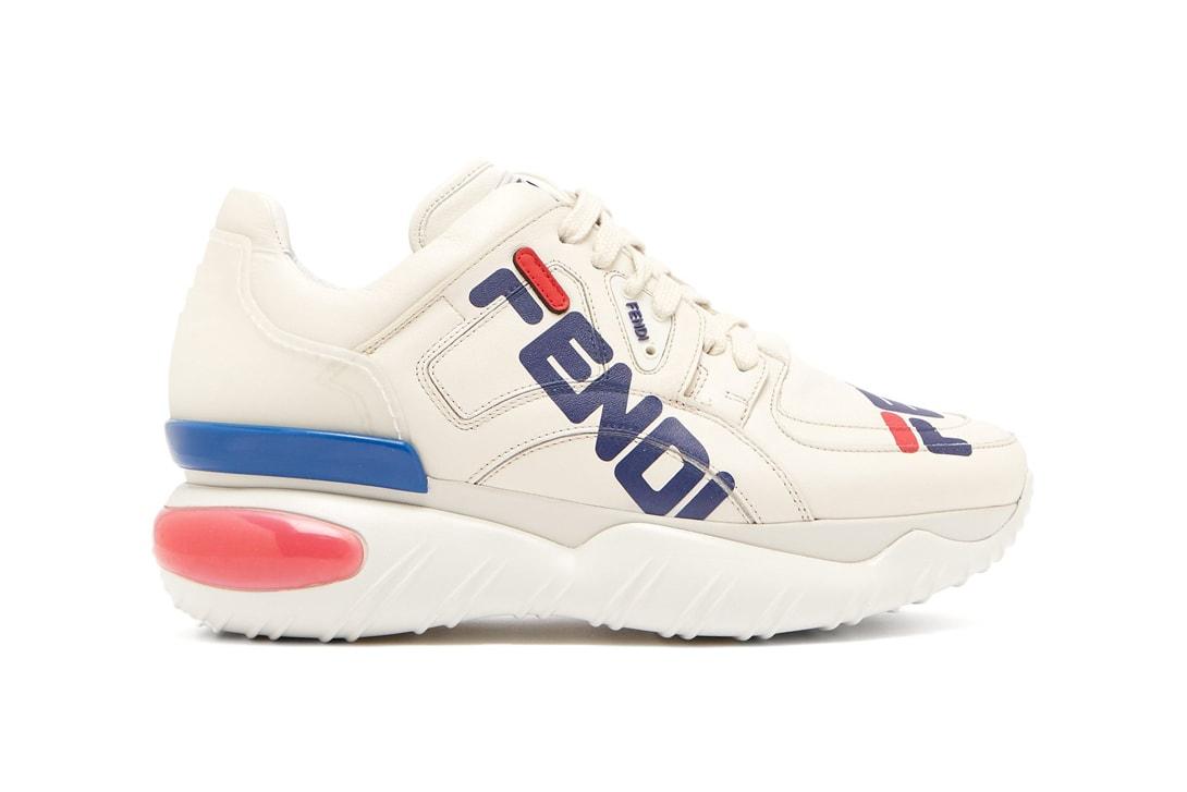 Fendi MANIA Logo Print Trainers Off White Vetements Reebok Instapump Grey I-5923 Icy Pink Nike Air Force 1 High '07 LV8 Sport White Team Orange
