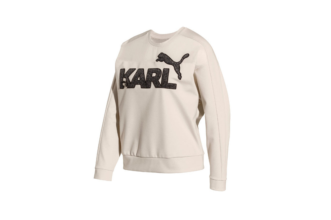 Karl Lagerfeld x PUMA Capsule Collection Sweatshirt Cream Sweatpants Black