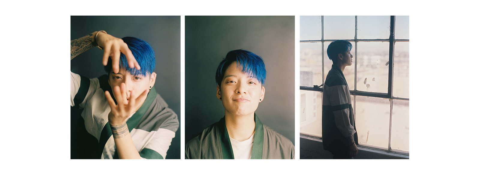 Amber Liu f(x) Rogue Rouge K-Pop Star Gone Tour Interview Video Solo Portrait Blue Hair Korean Pop Music