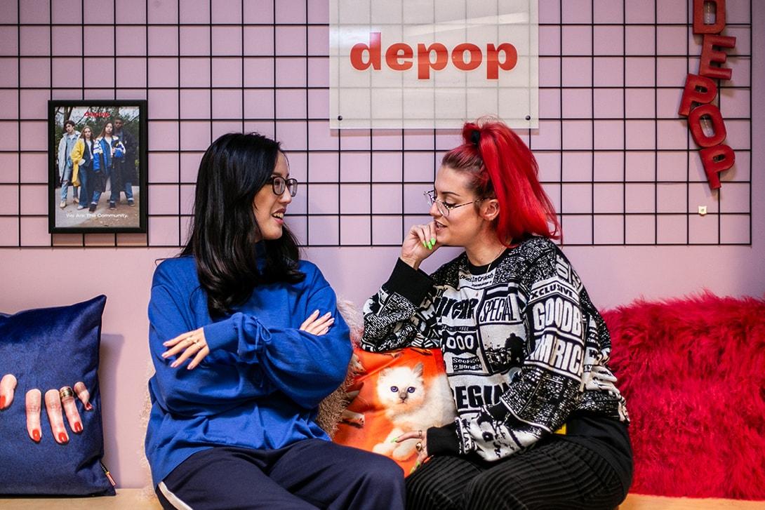 Depop's Zoe Wong Sweater Blue Danielle Greco T-shirt Black