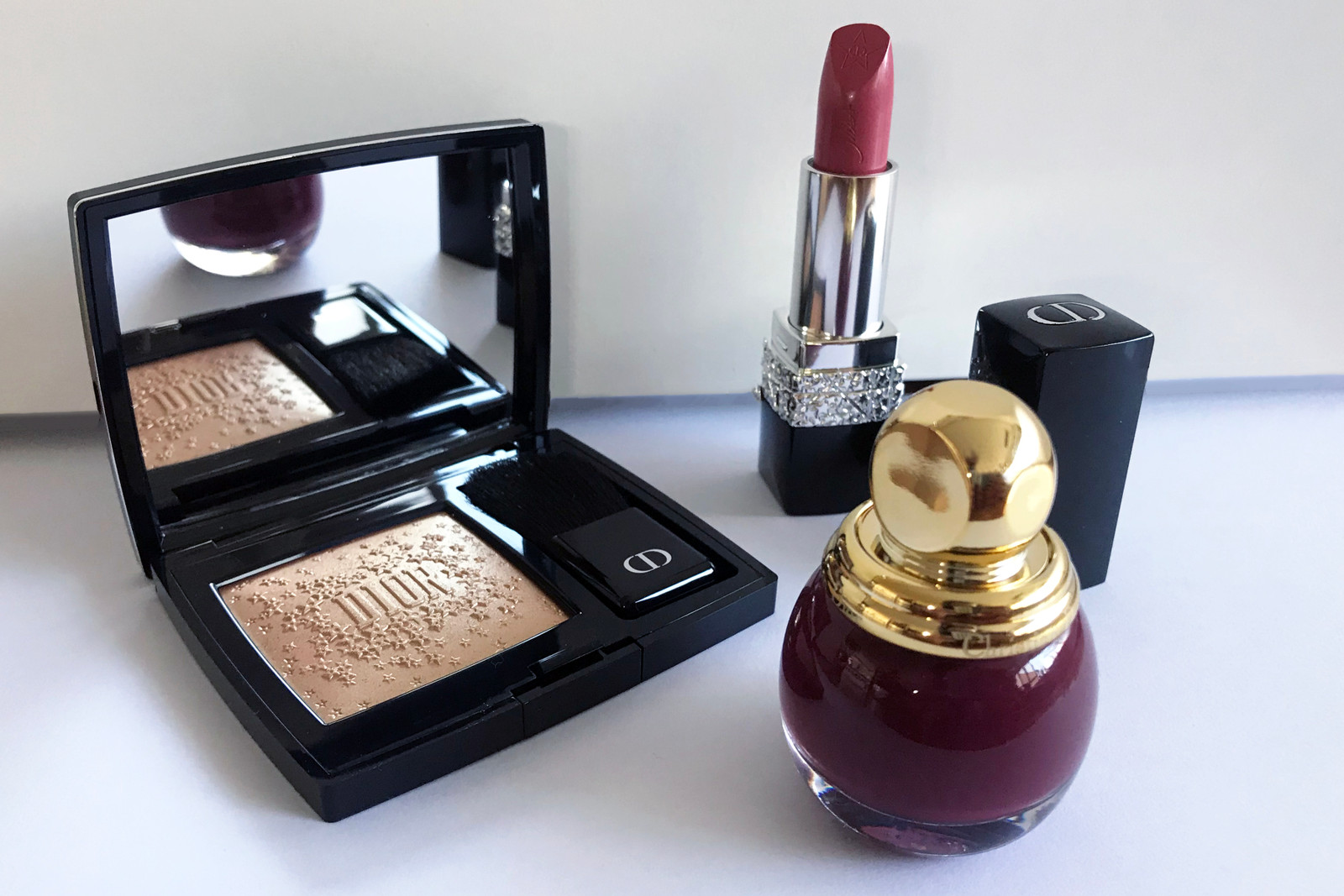 Dior Makeup Holiday Beauty Collection Review Lipstick Nail Polish Highlighter Blush