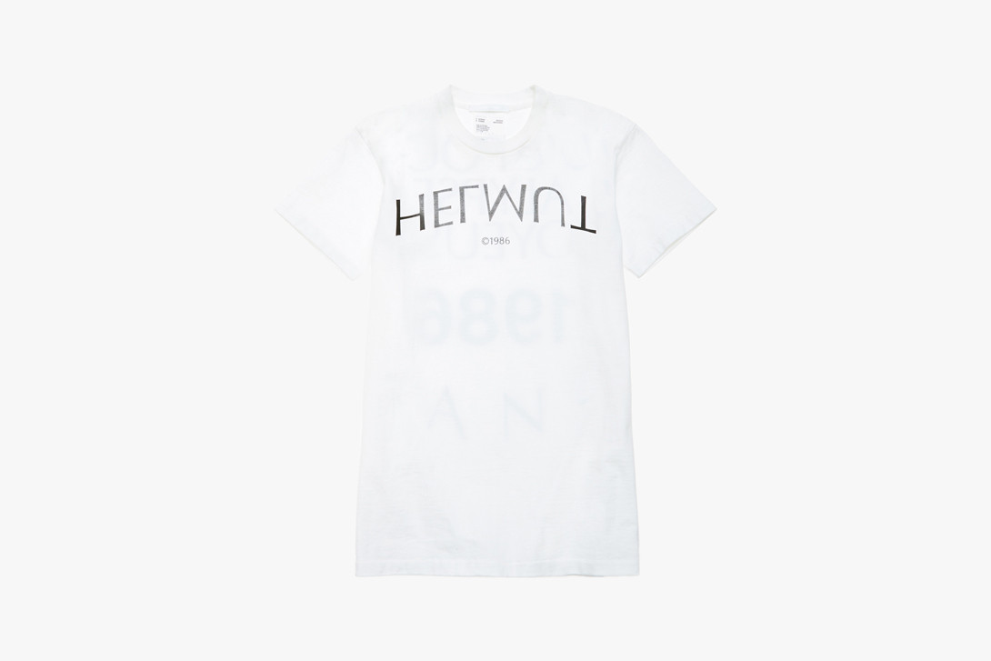 Helmut Lang Jeans Denim Pants Shorts Blue T-shirt White