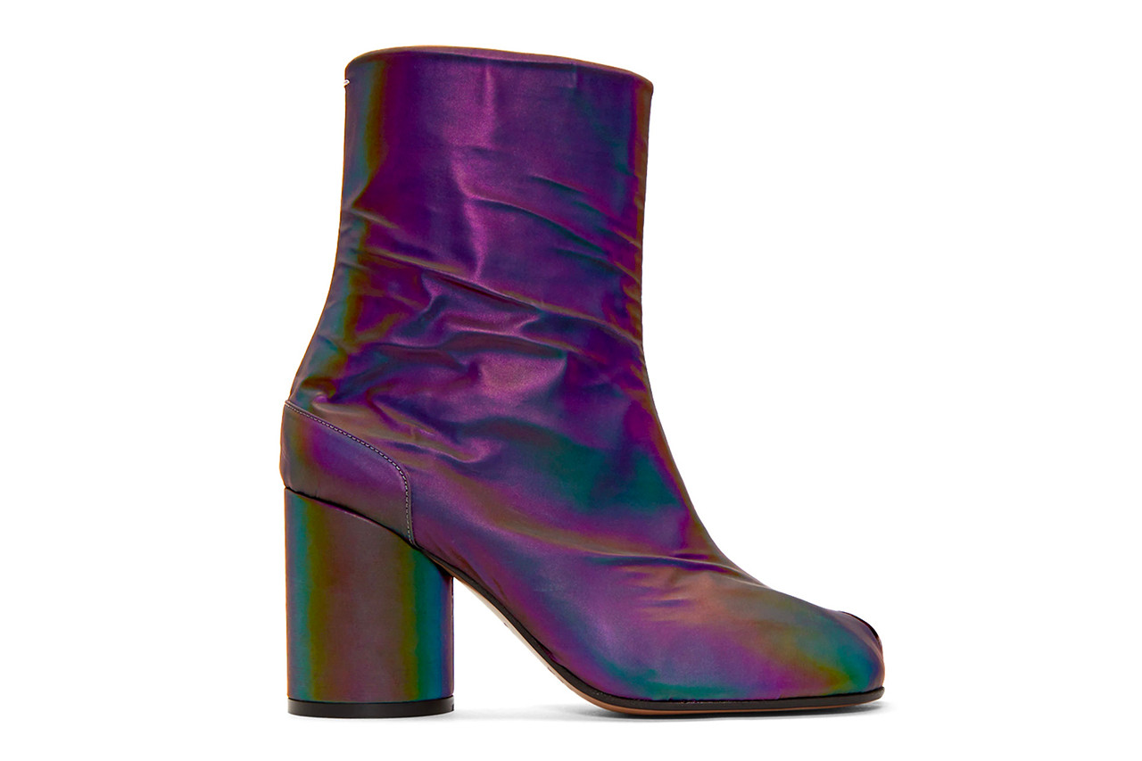 Maison Margiela Tabi Boot Boots Reflective Rainbow Flash