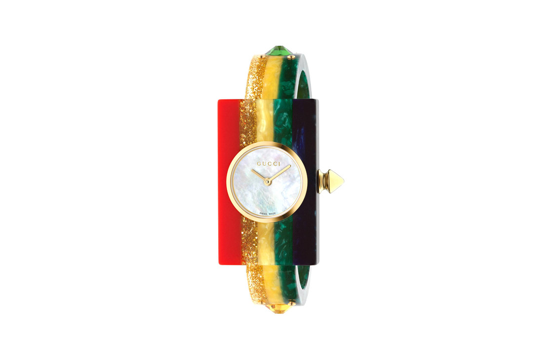 Gucci G-Frame 14 x 25 MM Watch Red Green