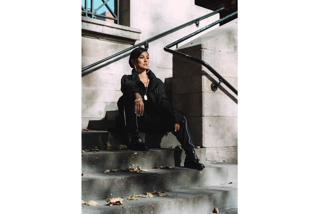 AGNEZ MO Jacket Hat Black