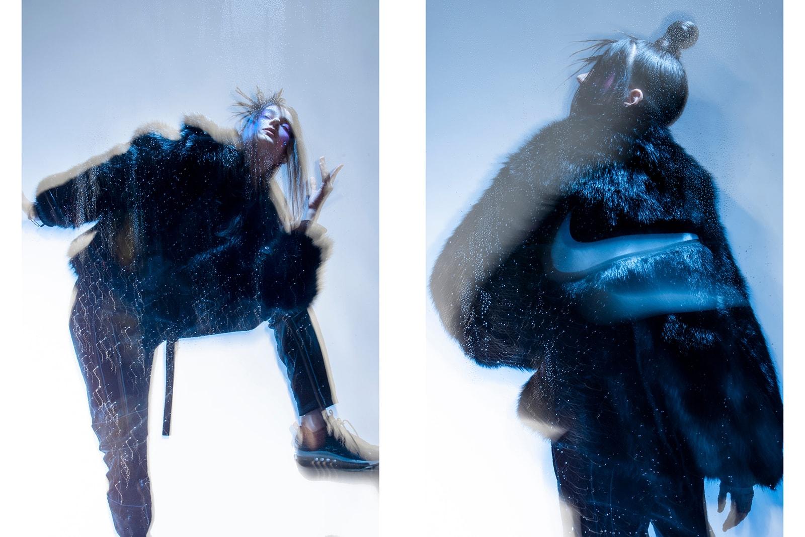 ambush nike yoon ahn editorial faux fur coat jacket sportswear