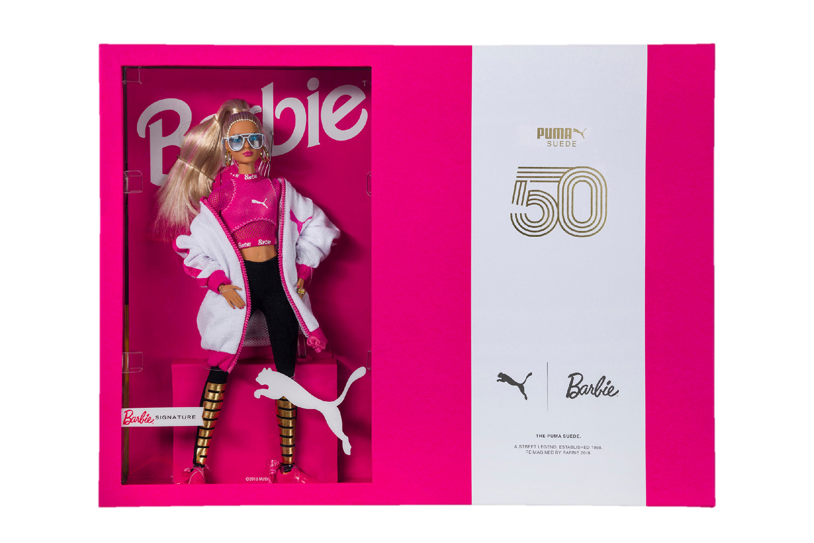 barbie puma suede sneaker 50th anniversary doll set 90s