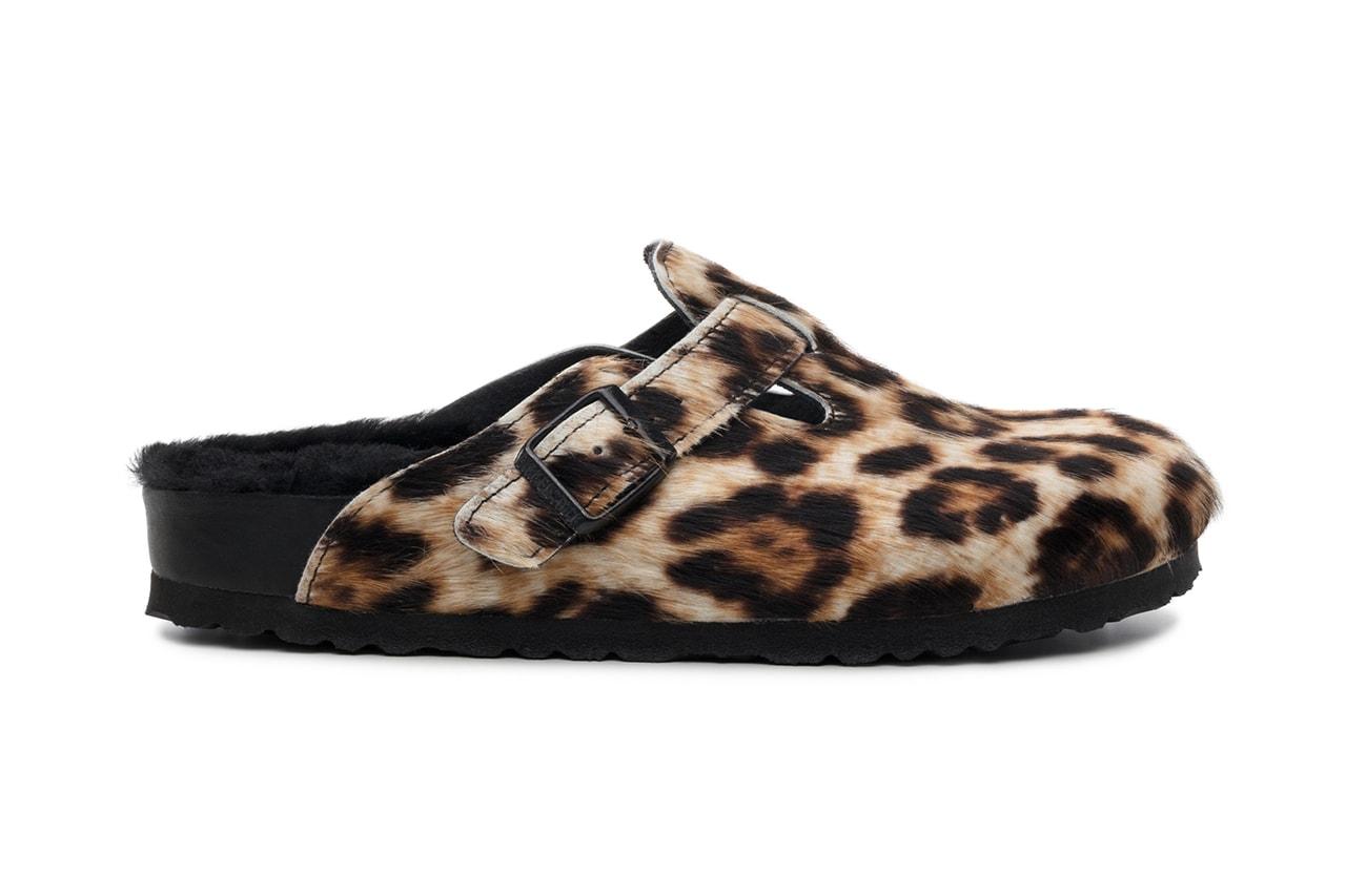 Opening Ceremony Birkenstock Collaboration Sandals Arizona Boston Clogs Sandals Leopard Print Zebra
