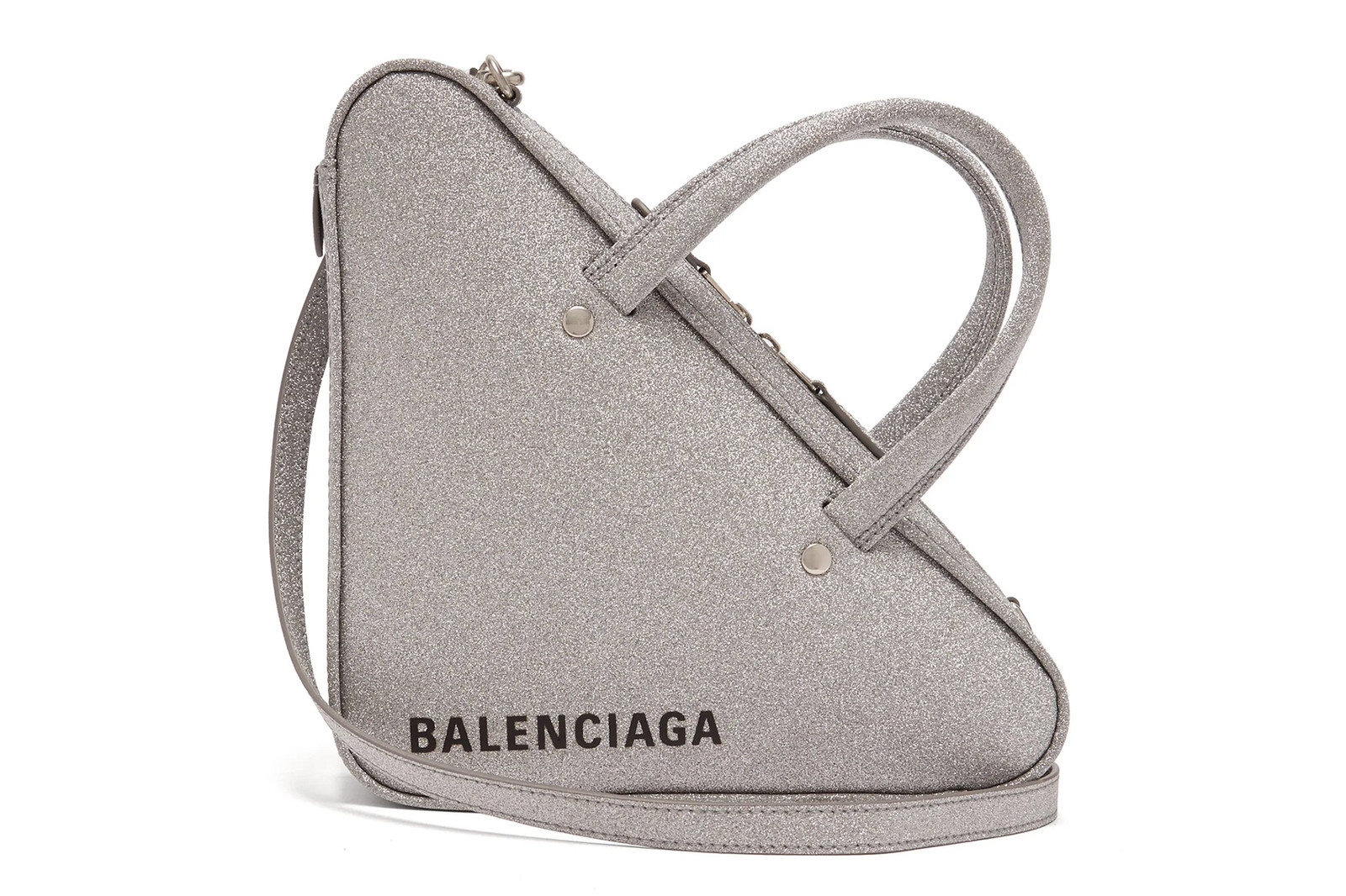 Designer Bags Silver Metallic Glitter Balenciaga Paco Rabanne Shrimps Alexander Wang Christian Louboutin