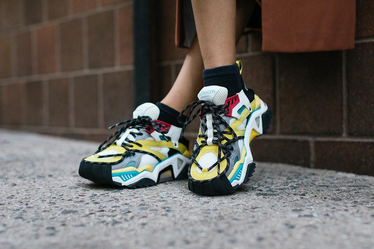 Calvin Klein 205W39Nyc Spring 2019 Sneakers Lookbook Video Calvin Klein Velcro Shoes