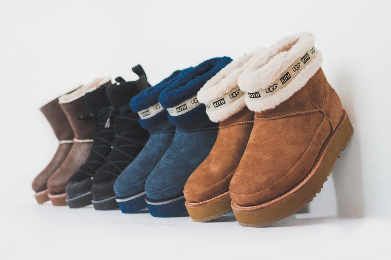 KITH Women UGG Fall Winter 2018 Collection Sherpa Mid Boot Combat Buckle Chestnut Navy Black Brown