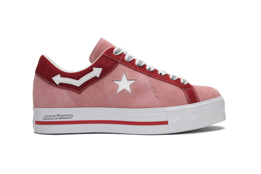 MadeMe x Converse Collaboration Paloma Elsesser One Star Pink Campaign