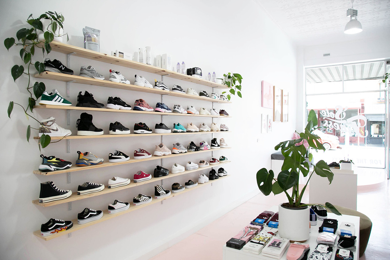 Sole Finess Owner Murata Prajumas Sneaker Store Melbourne Australia Women Female Shop Bed Nike adidas Shoes Footwear Pink Hair