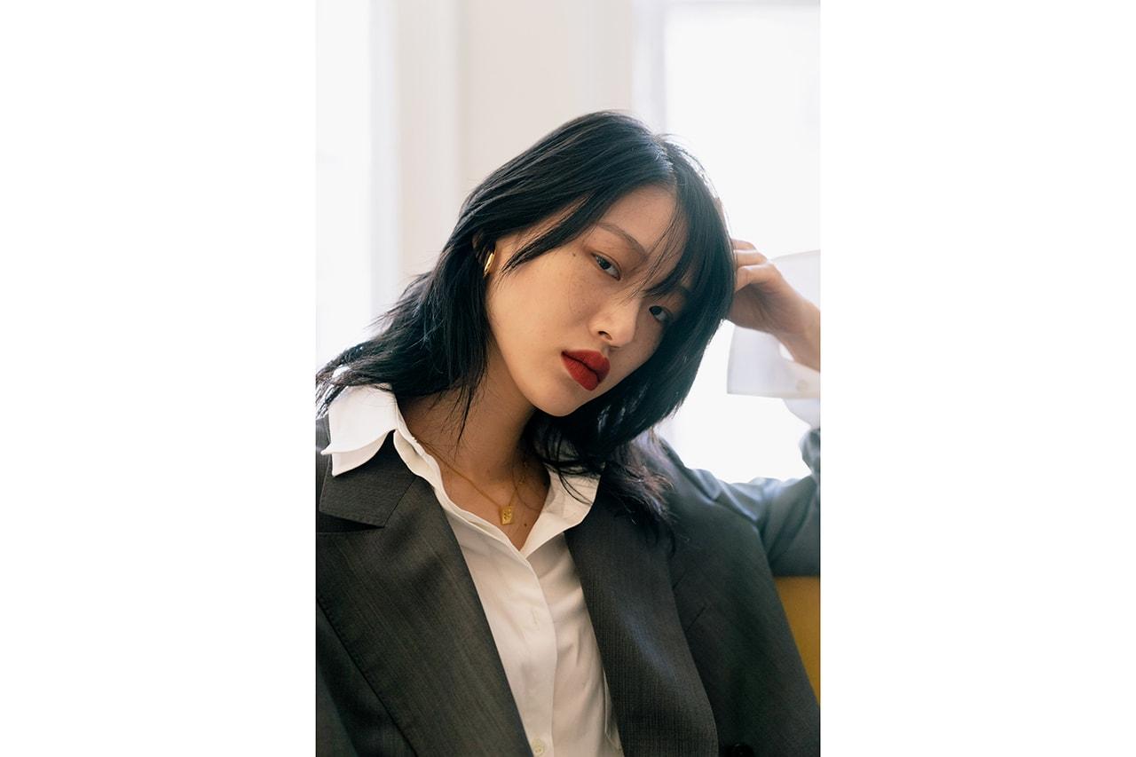 Sora Choi Korean Model Makeup Skincare Beauty Essentials Red Lip Black Hair Asian Supermodel