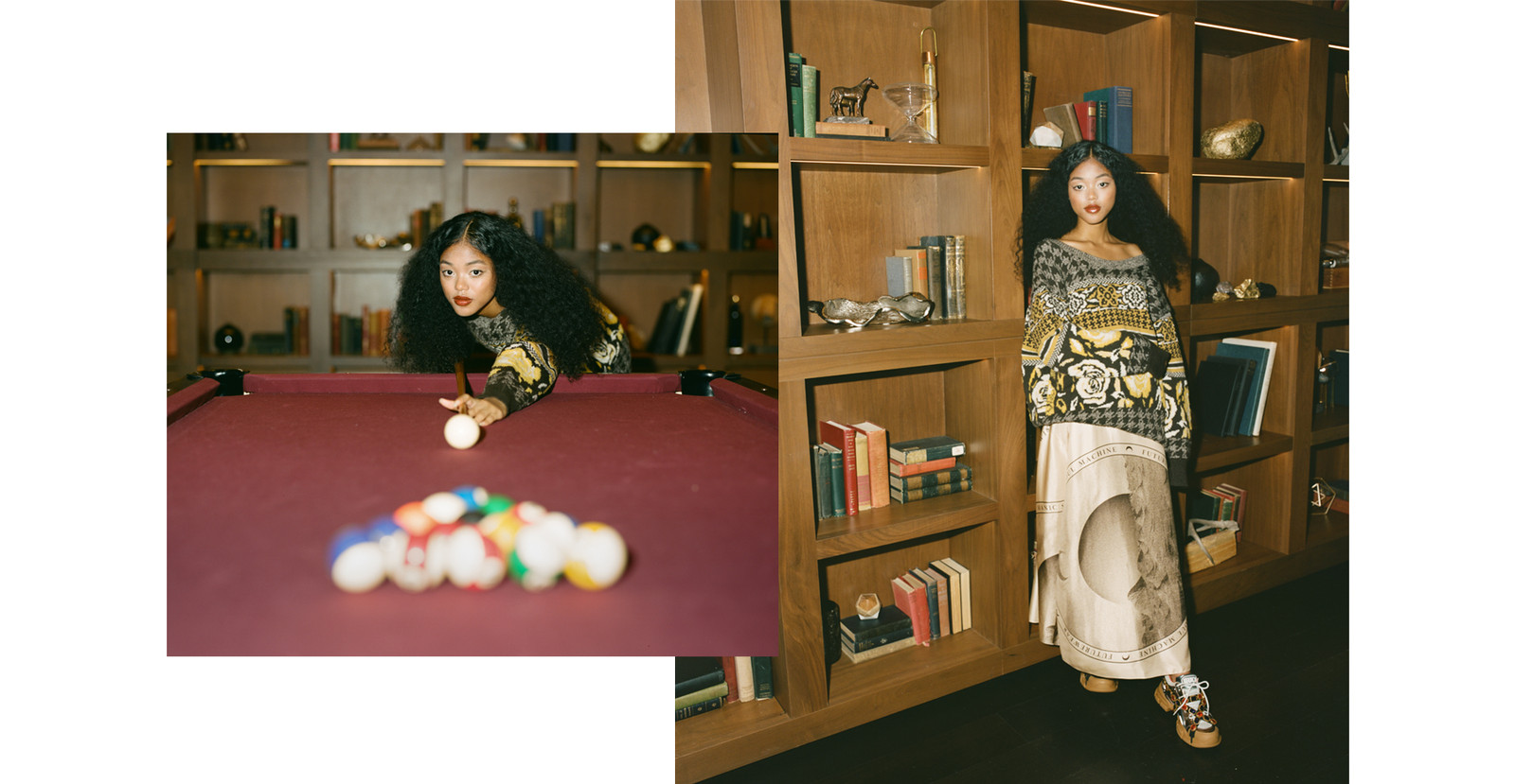 Ugly Christmas Sweater Holiday Editorial MSGM Dress White Blue Yellow Ciana Parks Family Management Model D/6 Bar and Lounge Vancouver Canada