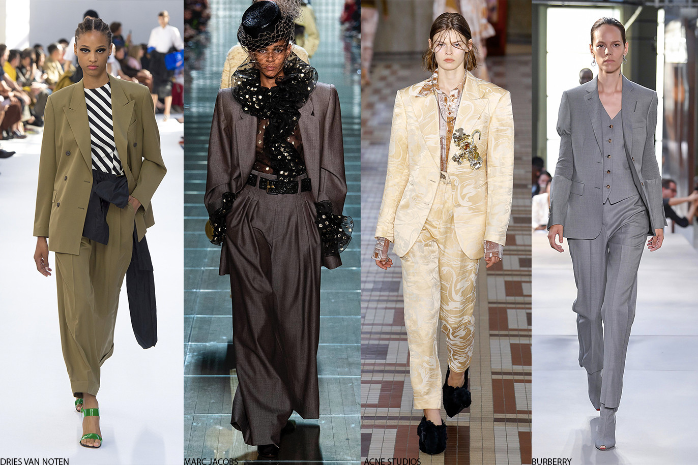 2019 Fashion Trends: Neon, Leopard, Suits & Nude Marc Jacobs Burberry JW Anderson Gucci Dior Acne Studios Marc Jacobs DriesVan Noten Chanel
