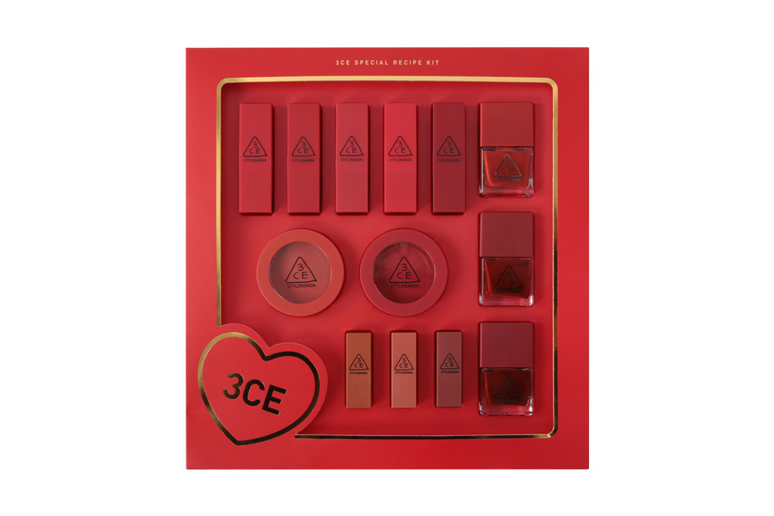 3ce korean beauty makeup cosmetics chinese new year valentines day sets nail polish lacquer eye gel cream lip tints