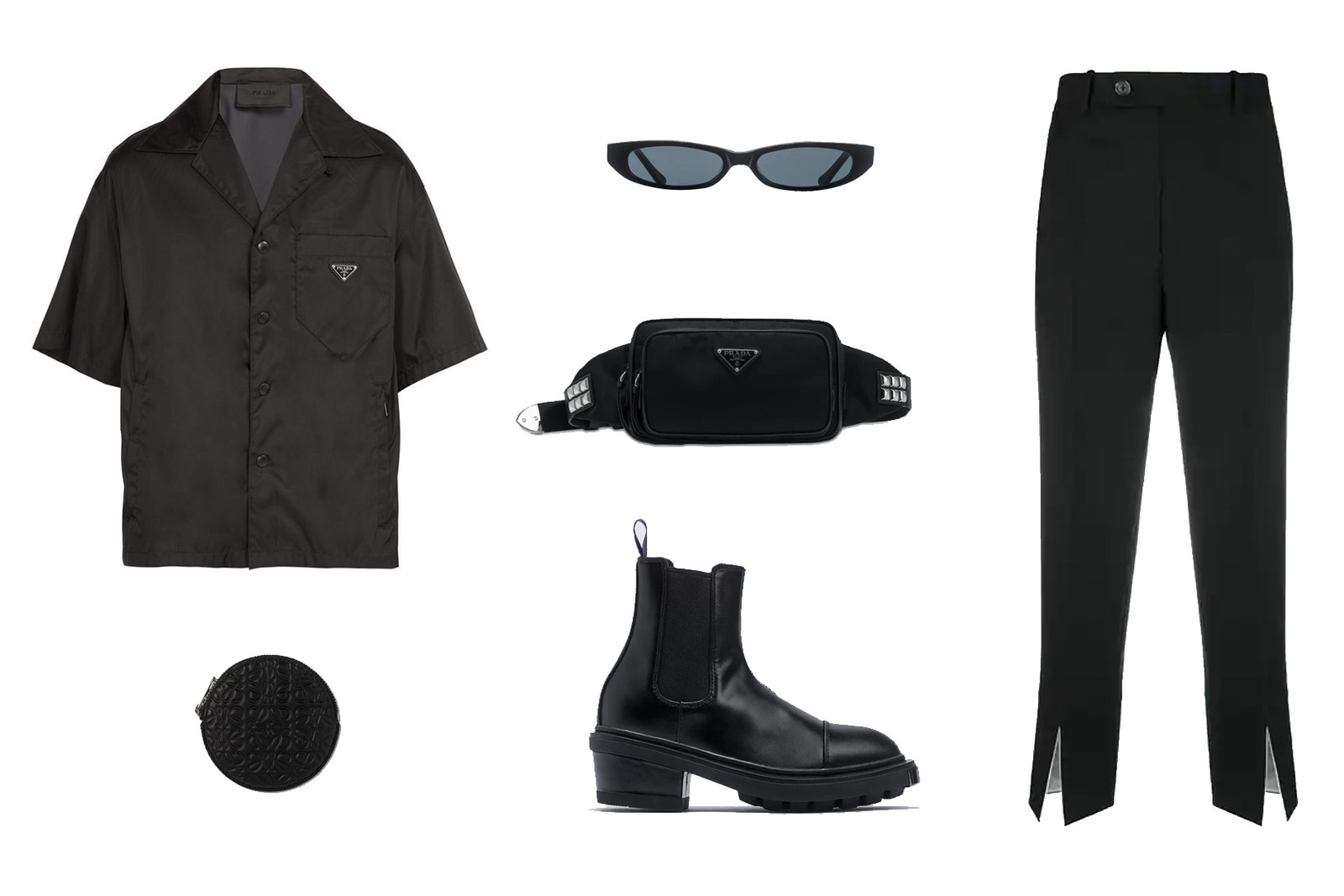 Winter Outfit Ideas Black Prada Shirt Monochrome Fashion Look