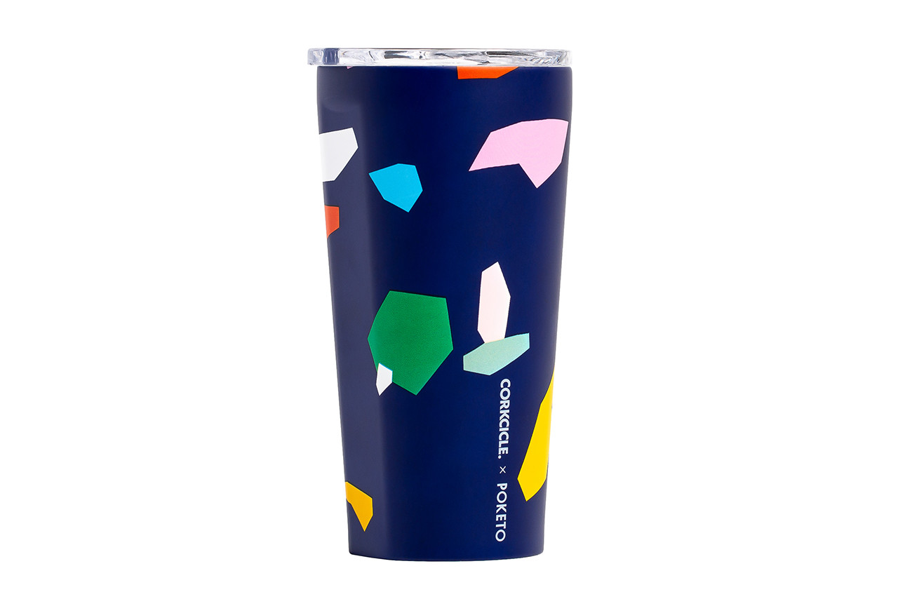 Poketo Corckcicle Bottle Cup Tumbler Collaboration Reusable Water Pastel Blue Deep Eco-Friendly