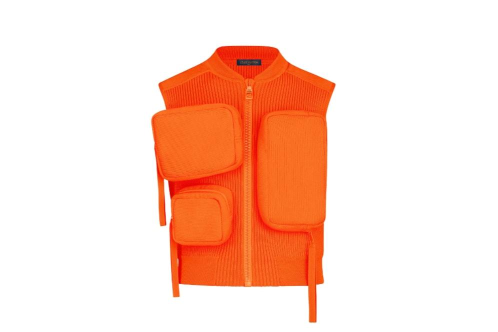 Louis Vuitton Men's Spring/Summer 2019 Show Paris Fashion Week Backstage Chest Rigs Neon Green Orange