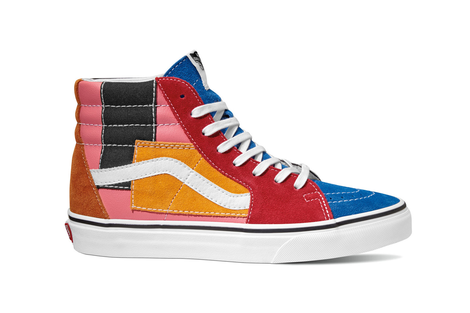 331ba1a417 Vans Patchwork Era Sk8 Hi Slip On Multi