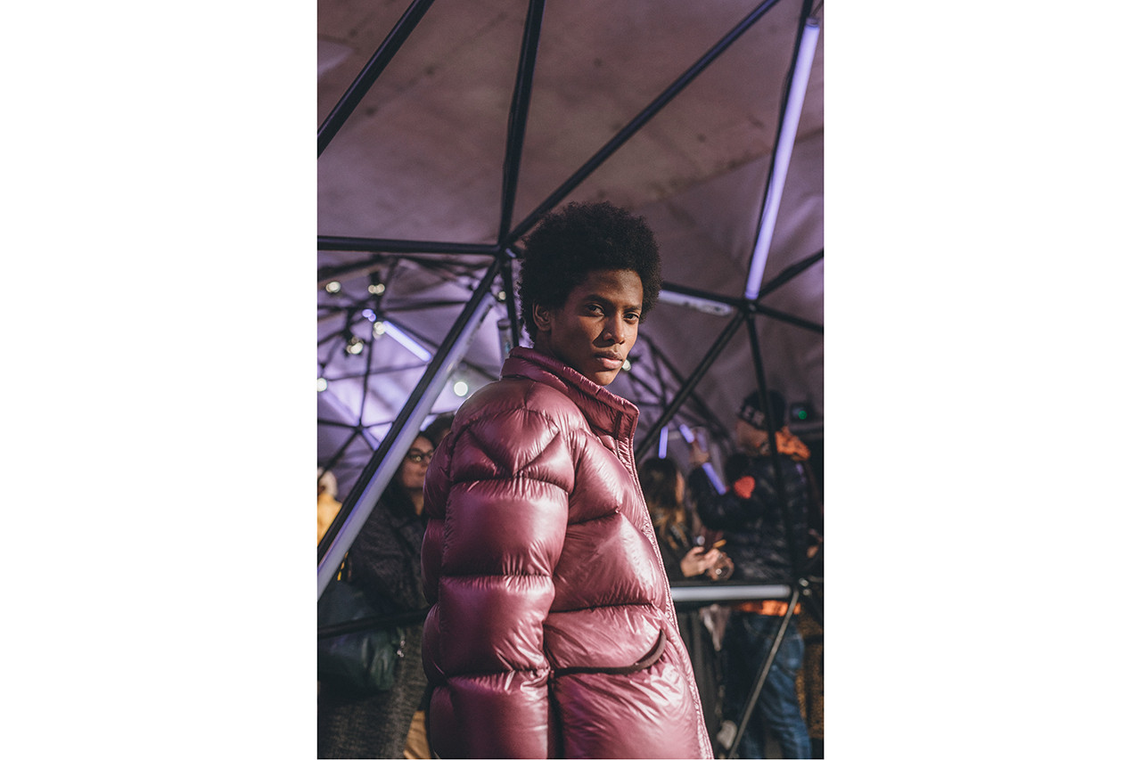 Moncler Genius Milan Fashion Week Presentation February 20 2019 Dog Puffer Jacket Pink White