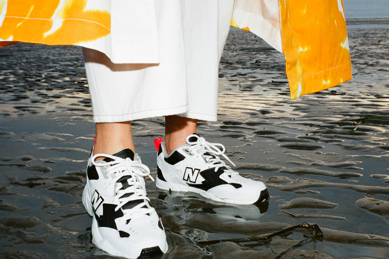 fa6ed4bc824 ... New Balance Sneakers Sneaker Spring Summer 2019 608v1 Black White Dries  Van Noten Orange Coat White